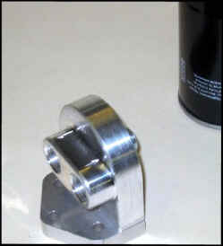 Billet aluminum remote oil filter mount from Earl's Performance Plumbing